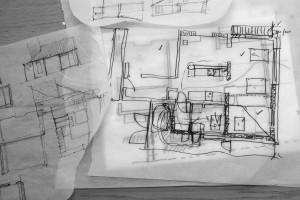 Rough sketch of a house plan