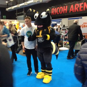 Wasp mascot at Kidz Exhibition