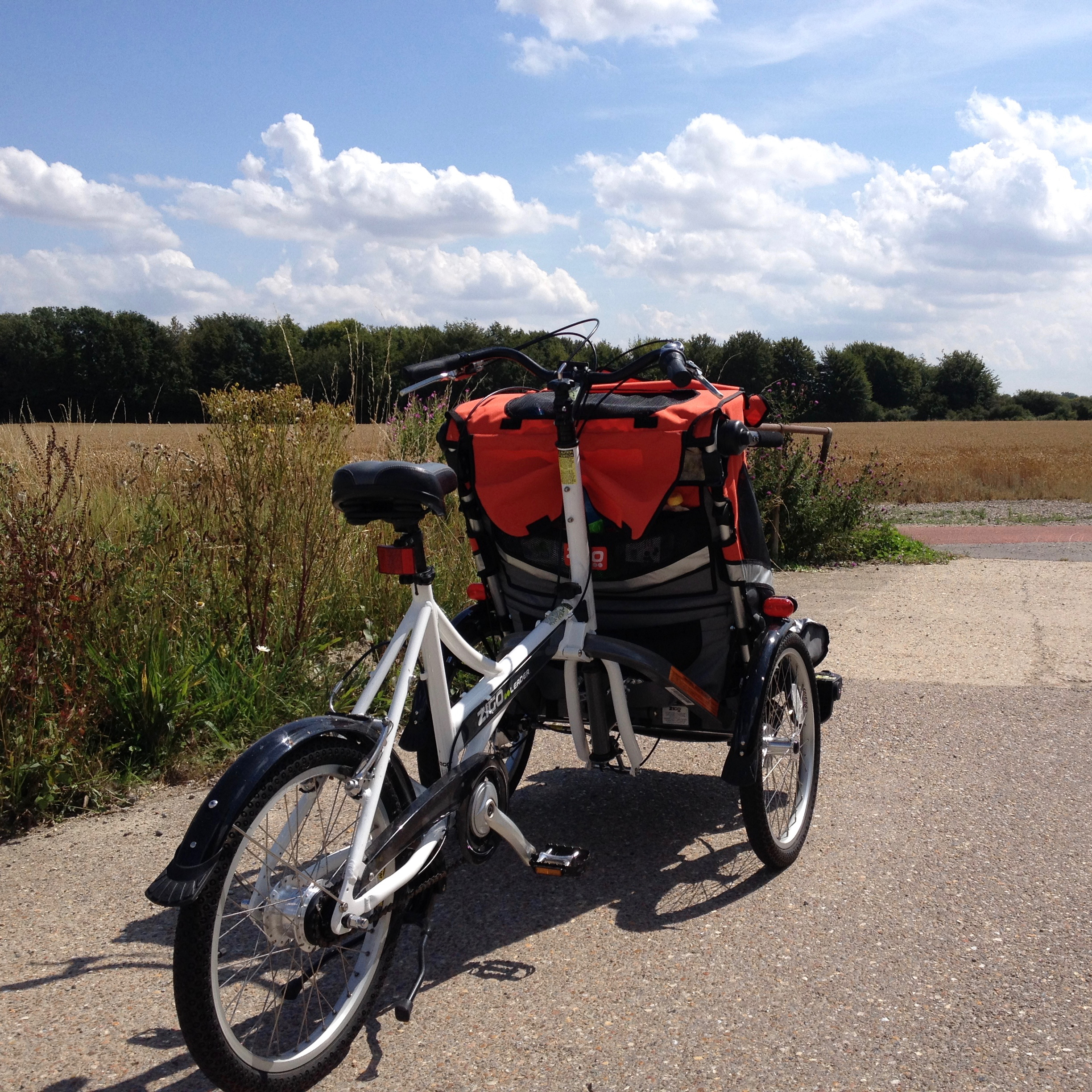 Trike on a car free cycle route