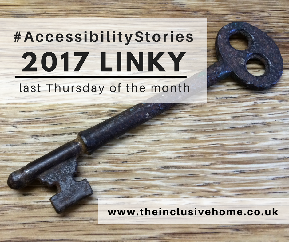 """A rusty key with title """"Accessibility Stories 2017 Linky"""""""