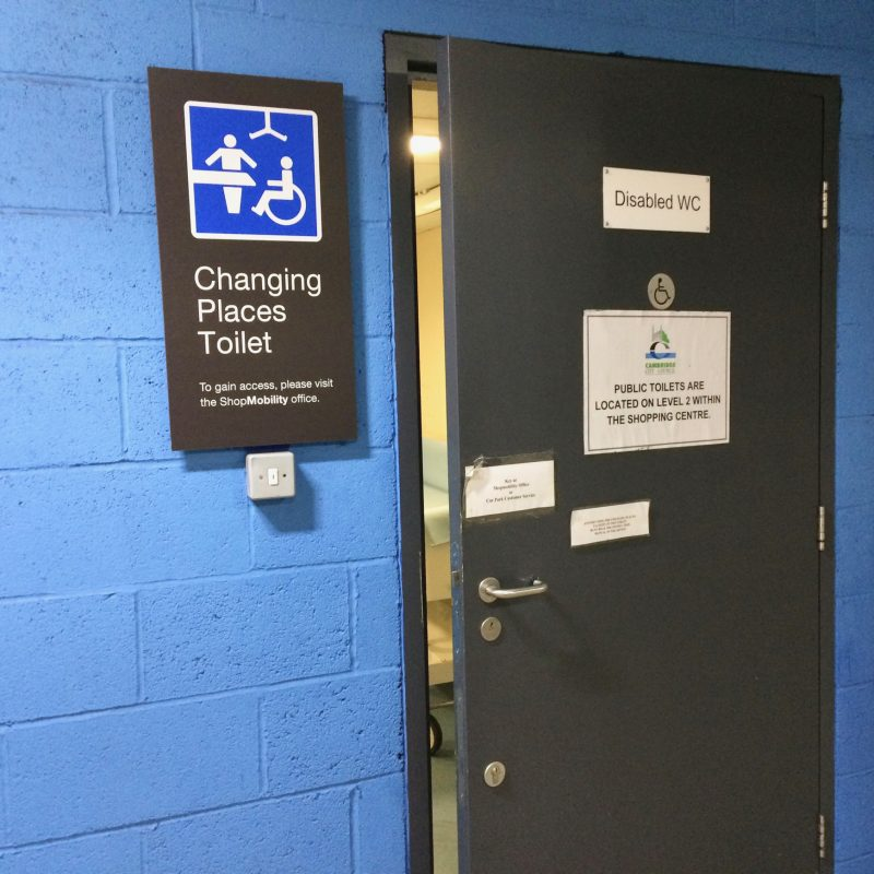 Changing Places Toilets entrance signage