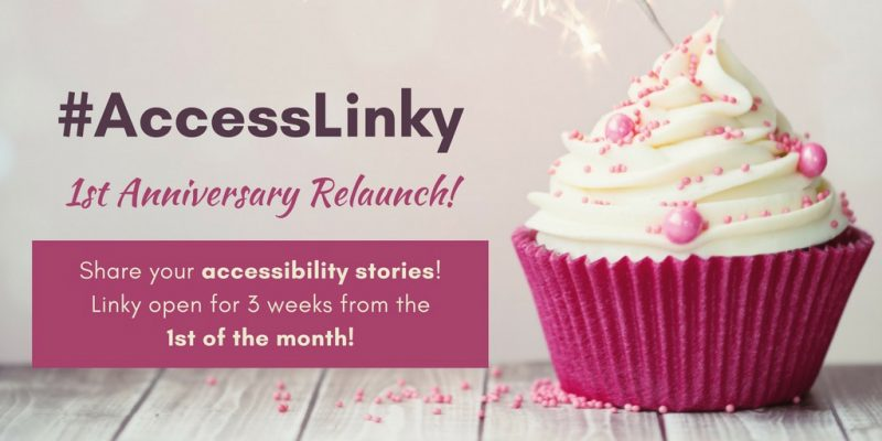 Share your accessibility stories on Access Linky. Open from 1st of the month for 3 weeks