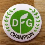Badge with DFG Champion graphic