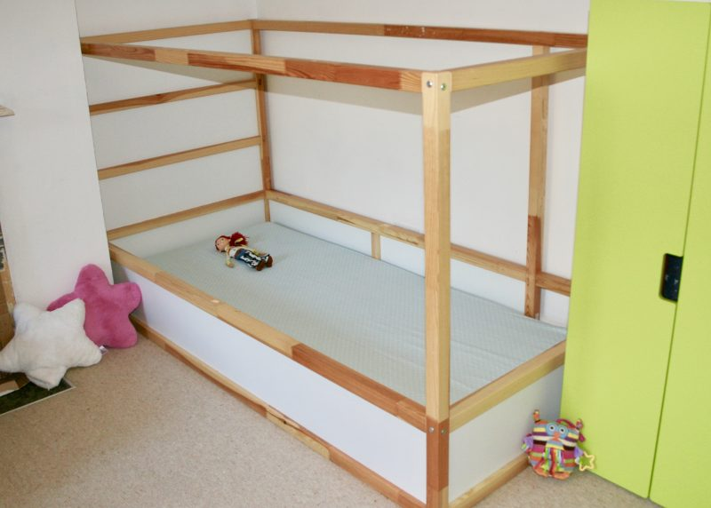 Photo of J's Ikea Kura bed with lowered mattress