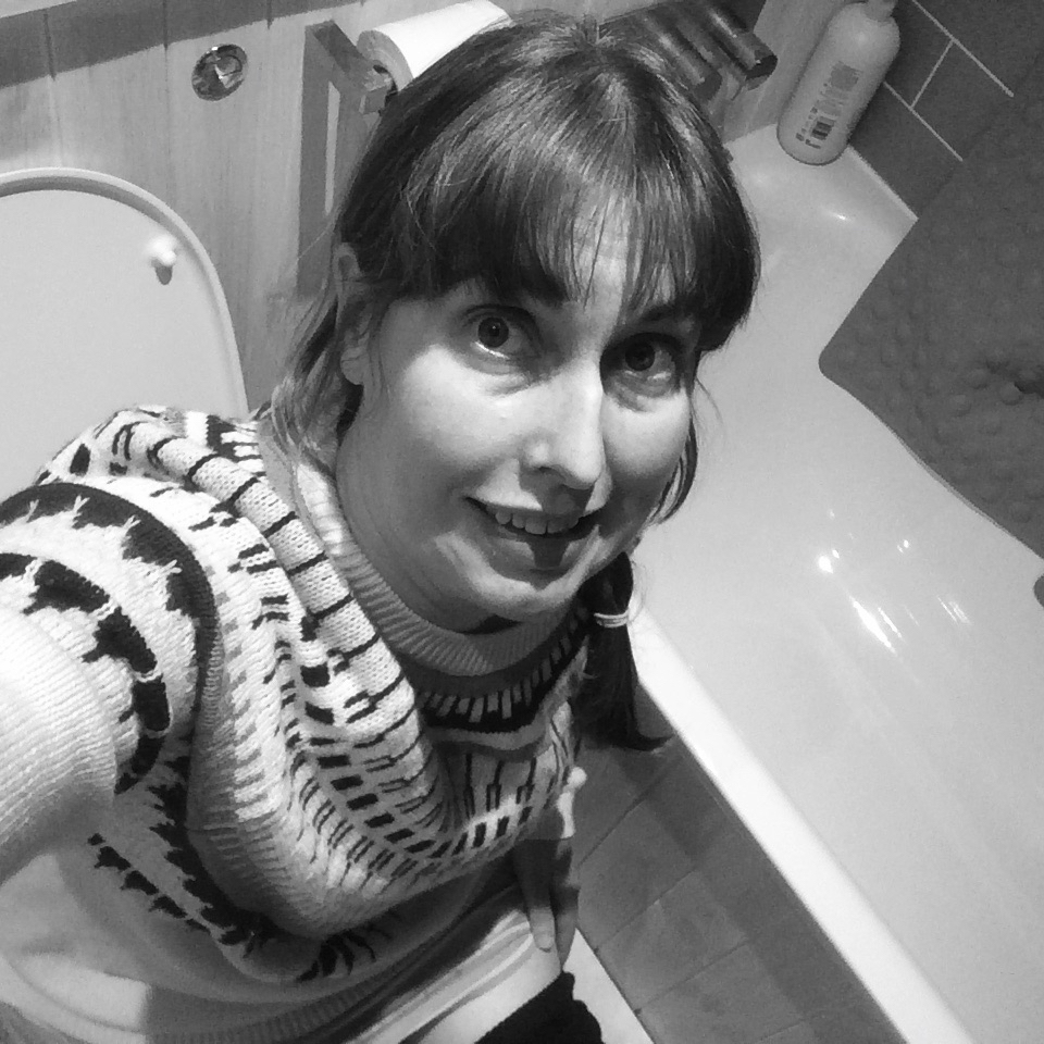 Photo of Vaila on the loo (camera positioned discreetly!)